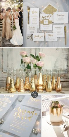 simple gold foil wedding invitations with glittery belly band and tag - Elegant Wedding Invitations - Hochzeit Gold Wedding Colors, Gold Wedding Theme, Wedding Color Schemes, Wedding Themes, Gold Ivory Wedding, Gold Beach Wedding, Champagne Wedding Colors, Miami Wedding, Table Decoration Wedding