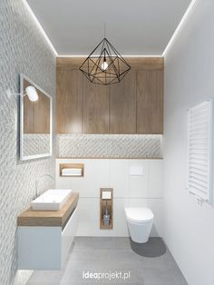 Ideas for bathroom lighting for your home - Ideen Zuhause - Bathroom Decor Guest Toilet, Small Toilet, Downstairs Toilet, Wc Design, Toilet Design, House Design, Bath Design, Interior Design, Vanity Design