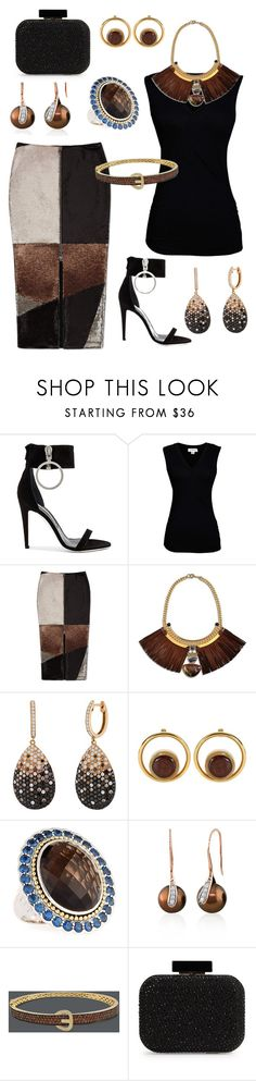 """Sequins, Velvet and Diamonds"" by trescrwndgg ❤ liked on Polyvore featuring Off-White, Velvet by Graham & Spencer, Natalie Waldman, Marni, Lagos, Belk & Co., R.H. Macy's & Co. and Franchi"