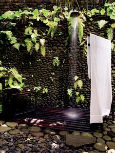 Outdoor shower is necessary. I would use a lighter wood than cherry though. Outdoor shower is necessary. I would use a lighter wood than cherry though. Outdoor shower is necessary. I would use a lighter wood than cherry though. Outdoor Bathtub, Outdoor Bathrooms, Outdoor Rooms, Outdoor Gardens, Outdoor Living, Outside Showers, Outdoor Showers, Douche Design, Garden Shower