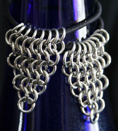 Handcrafted Stainless Steel Maille Pony Tail Hair Bands Set of 2 | JulieKindtStudio - Accessories on ArtFire