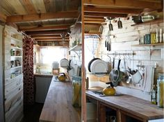 tiny-house  Could do this in the camper.  Like the elevated water supply