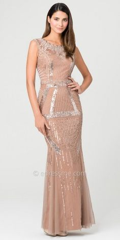 Carraway Sequined Evening Dresses by Aidan Mattox-image #edressme