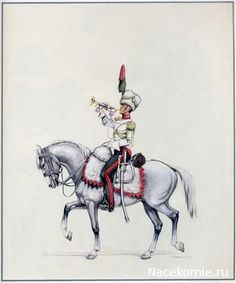 Duchy of Warsaw, 1st Chasseurs a Cheval, Trumpeter in Grande Tenue