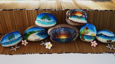 Hand Painted Coconuts by Jenn Payne for sale at www.coconutcottage.com.au I LOVE JEN's WORK!!