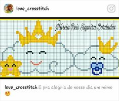 This Pin was discovered by Ali Cross Stitch Baby, Cross Stitch Patterns, C2c, Hama Beads, Crochet Stitches, Diy And Crafts, Projects To Try, Embroidery, Knitting