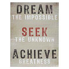 dream seek achieve