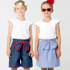 Paisley Shorts and Skirt Sewing Pattern by My Childhood Treasures | Sewing Pattern | YouCanMakeThis.com
