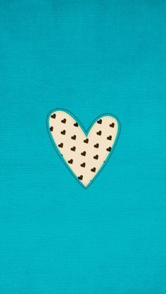 Turquoise aqua blue black white mini hearts iPhone wallpaper phone background lock screen