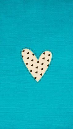 Turquoise aqua blue black white mini hearts iPhone wallpaper phone background lock screen
