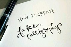 DIY..How to Create Fake Calligraphy by Jones Design Company !