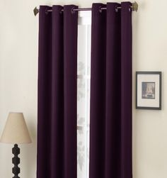 Marvelous Dark Purple Curtains | Details About 2 Panels Solid Curtain Window Covering  Panel New Each .  Dark Purple Curtains