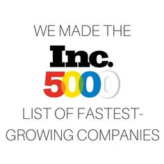 Ranked #629 in Inc5000 for the fastest growing company in America!