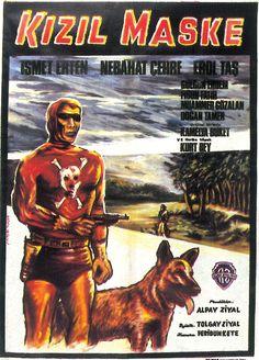 Kızıl Maske (1968)-Protagonizado por Ismet Erten. Filme turco não autorizado.