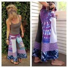 Patchwork Eco Gaucho PANTS upcycled clothing