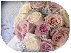 Love the Pastel Tones of this Floral Posey. The Roses I used were 'Vendella', 'Something Special' and 'Silverstone'. DIVINE!
