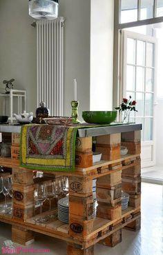 Bancadas e Móveis de Cozinha com Pallets Mais Paletes