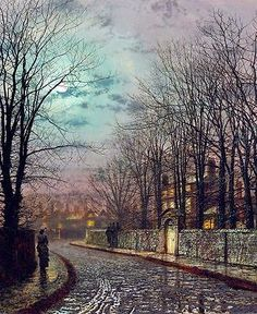 John Atkinson Grimshaw The Tryst Giclee Canvas Print