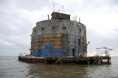 This could be the ultimate Grand Designs project. The World War One Haile Sands Fort off Humberston, Lincolnshire is up for auction with a guide of Under The Hammer, Unusual Buildings, Cost To Build, Unusual Homes, Grand Designs, World War One, Water Tower, Medieval Castle, Forts