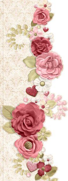 Rosas bordadas con cinta