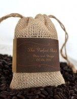 wedding favors - coffee bags