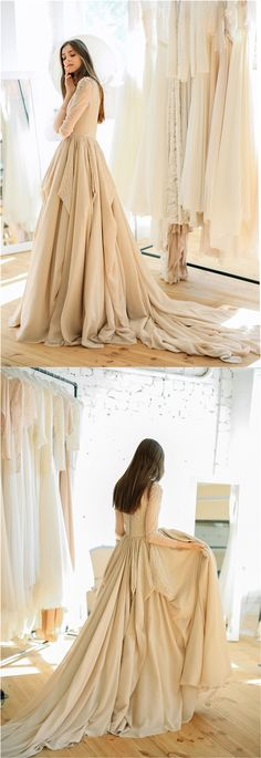 Ball-gown wedding dress with embroidered bodice