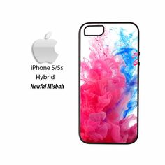 Pink Blue Fractal Paint iPhone 5/5s HYBRID Case Cover