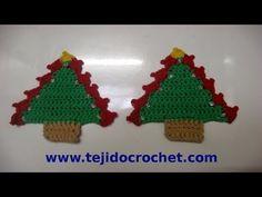 Como tejer un arbolito de navidad en tejido crochet tutorial paso a paso. - YouTube