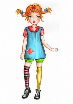 Pippi Longstocking by funandcake.deviantart.com on @DeviantArt