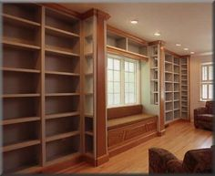 Inspiration: Home Library with Window Seat