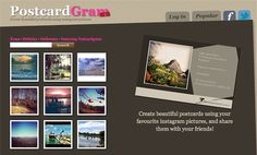 Create beautiful postcards using your favourite #instagram pictures, and share them with your friends! postcardgram