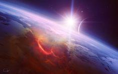 Poradnik Przebudzonego   Ścieżka Driady Original Wallpaper, Hd Wallpaper, Do You Work, To Infinity And Beyond, Space Travel, Mass Effect, Beautiful Space, Airplane View, Sunrise