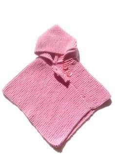 Veste Poncho rose pour bébé 12 mois : Mode Bébé par layette-et-compagnie
