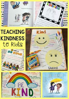 """Do your students understand what it means to """"be kind""""? Can you TEACH kindness? Check out these ideas and books for teaching kindness and promoting kindness in the classroom. #kindness #teachers #kids"""
