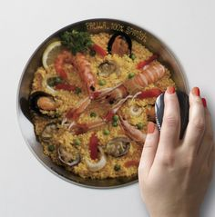 Tapa-Mousepad de Paella - Spanish Tapas - Designer Souvenirs