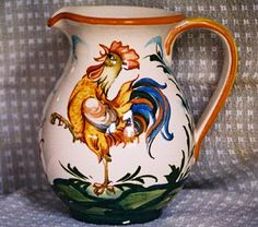 Rooster Pitcher made in Italy--I have this in my kitchen.