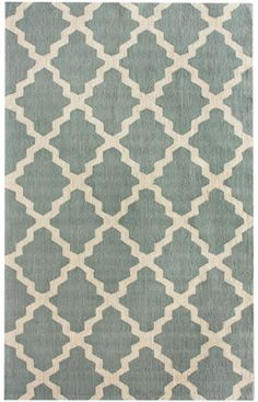 Rugs Usa Homespun Moroccan Trellis Light Blue Rug