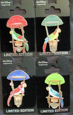 DISNEY- WDI- Tokyo Disneyland - Tiki Birds set of 4 LE 300 PINS