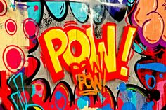 And POW! Just like that...it's Friday! Awesome, vibrantly colorful street art!