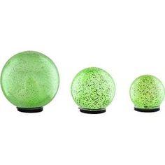 3-Piece LED Color Change Garden Globe Set