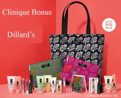 This is the Spring Clinique gift at Dillard's (and Boscov's). Yours when you spend $28. You can choose your bag, mix, and an accessory.