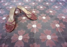 asilah cement tiles in aubergine and grey
