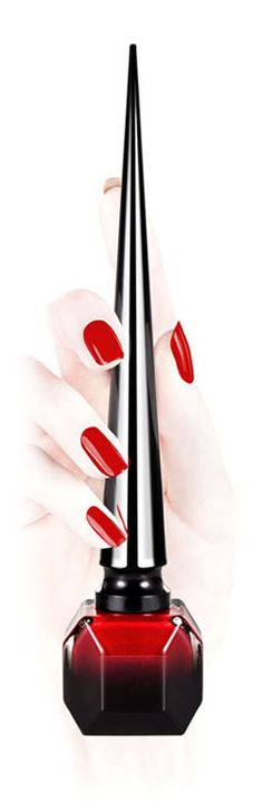 "Christian Louboutin has done it agaiiiiinnnnnn! Nail polish...I just can't get enough of this color ""Rouge Louboutin""...can't wait to get it!!! #soinlove #lookatthatbottle"
