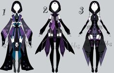 dark outfit adoptable batch CLOSED by AS-Adoptables Dress Drawing, Drawing Clothes, Sketch Inspiration, Character Design Inspiration, Drawing Reference Poses, Art Reference, Hero Costumes, Anime Dress, Fashion Design Drawings