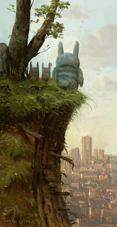 From Hawken to...Totoro, the Art of Khang Le - love this pic.
