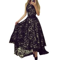 Sexy Women Summer Sleeveless Formal Party Long Maxi Lace Floral Gown Dress #Affiliate
