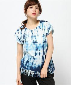 A・I・C(エーアイシー)のタイダイライクPt・Tシャツ(Tシャツ/カットソー)|ネイビー