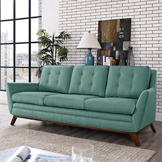 LexMod - Beguile Fabric Sofa in Laguna