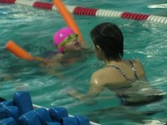 Swimming Lessons are great activities for kids and being a swim instructor can be a rewarding job as well.
