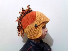Knight Helmet Hat Crochet Slouch Mens Convertible by vintageniltb, $29.00    ----------- SUMMER SALE-----------------------   *** BUY $ 50 OR MORE GET 10% OFF WITH COUPON CODE SALE10  *** *** BUY $ 75 OR MORE GET 15% OFF WITH COUPON CODE NEW15  ***